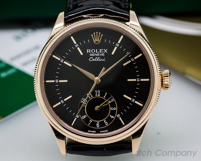 Rolex Cellini Dual Time 18K Rose Gold