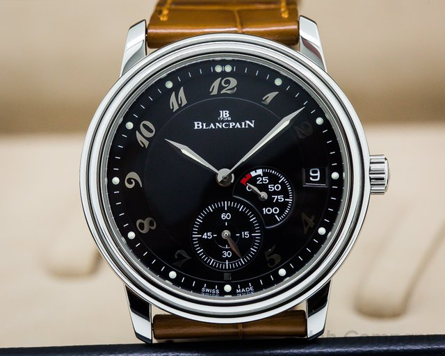 Blancpain Power Reserve Ultra Slim SS Black Dial Power Reserve