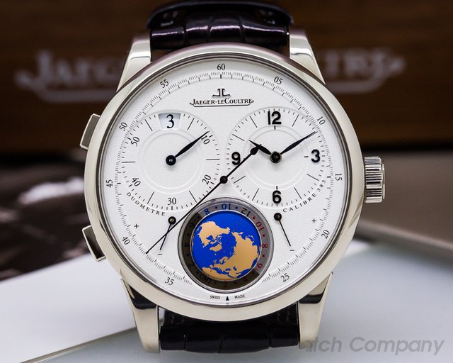 Jaeger LeCoultre Duometre Unique Travel Time 18K White Gold