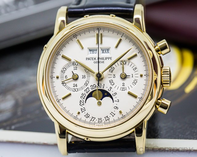 Patek Philippe Perpetual Calendar Chronograph Yellow Second Series BIG HALLMARKS