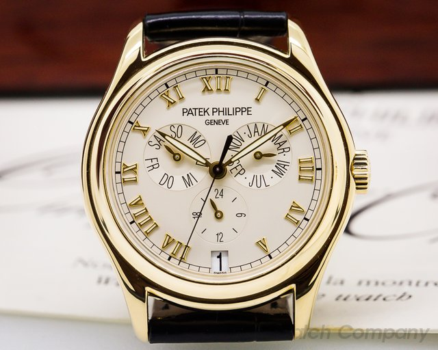 Patek Philippe Annual Calendar Cream Dial 18K Yellow Gold