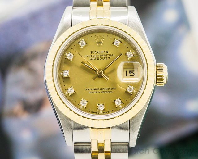 Rolex Lady Datejust Champagne Diamond Dial Jubilee 18K / SS