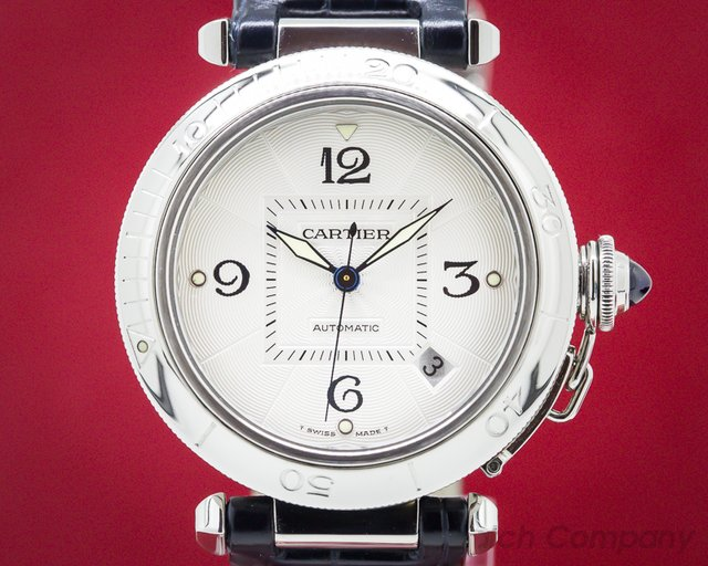 Cartier W31031H3 Pasha Automatic Silver Dial SS / Strap 38MM
