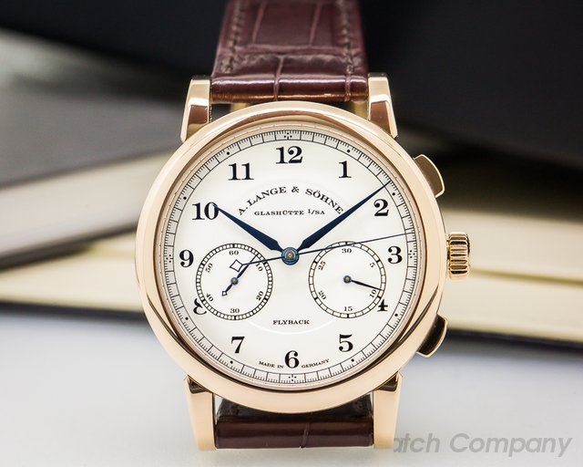 A. Lange and Sohne 1815 Chronograph 18K Rose Gold Silver Dial