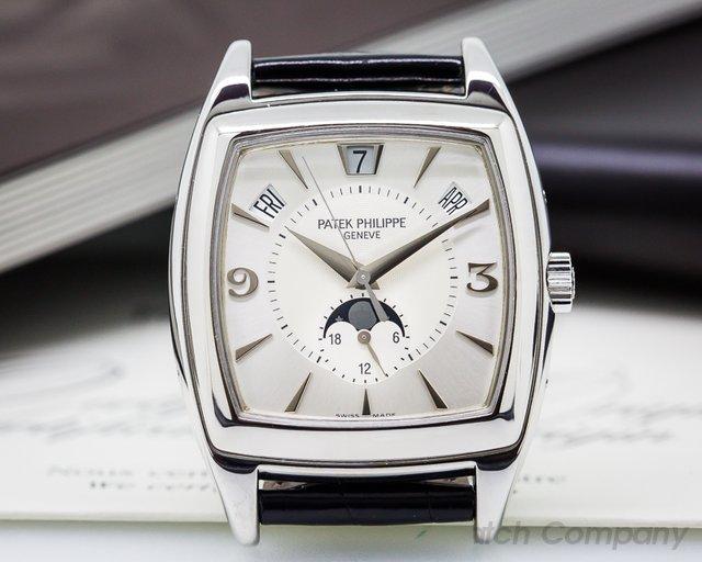 Patek Philippe Gondolo Calendario 18K White Gold Silver Dial