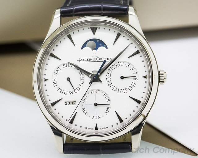 Jaeger LeCoultre Master Ultra Thin Perpetual Calendar 18k White Gold