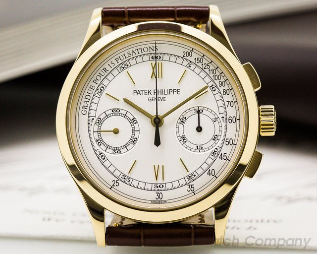 Patek Philippe Chronograph 18K Yellow Gold Pulsation Dial