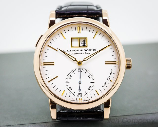 A. Lange and Sohne Langematik Sax - O - Mat Big Date 18K Rose Gold