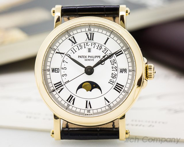 Patek Philippe Retrograde Perpetual Calendar 18K Yellow Gold FULL SERVICE