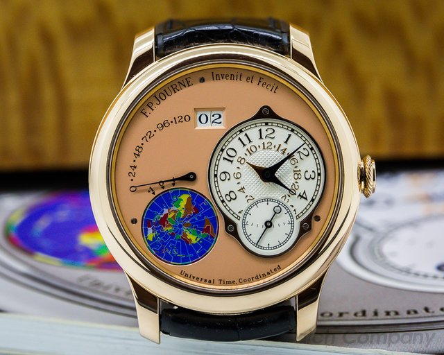 F. P. Journe Octa UTC Rose Gold Silver Dial