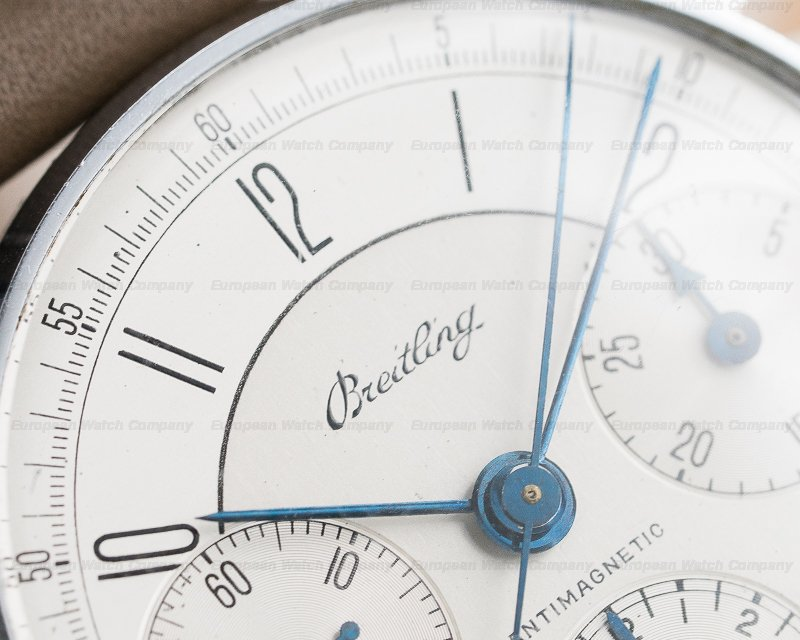 Breitling 734 Vintage Triple Register Silver Dial SS