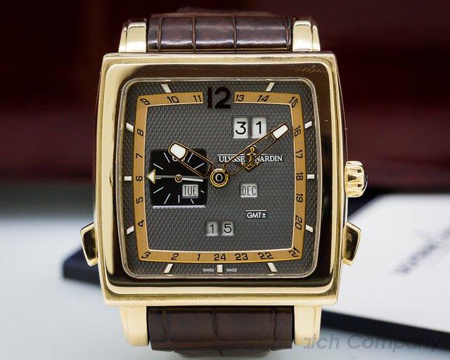 Ulysse Nardin Quadrato Dual Time Perpetual 18k Rose Gold