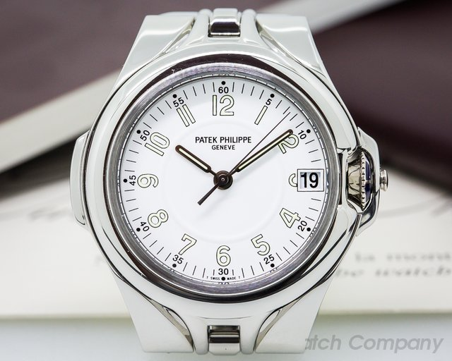 Patek Philippe Sculpture White Dial SS