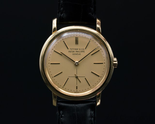 Patek Philippe Vintage Automatic 18K / Champagne TIFFANY & CO Dial