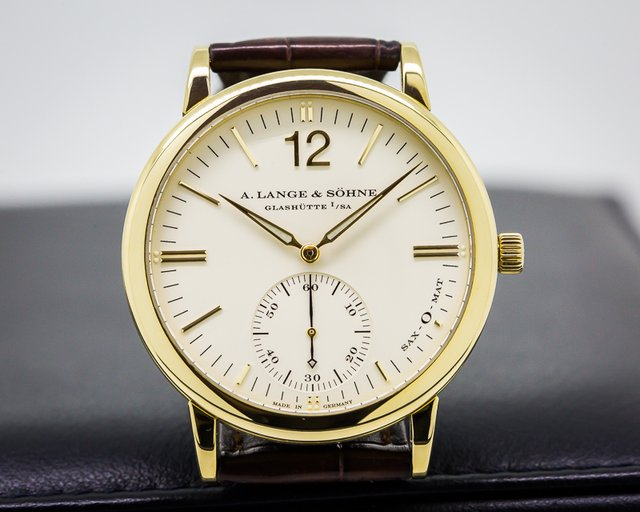 A. Lange and Sohne Langematik SAX-O-MAT Automatic 18K Yellow Gold