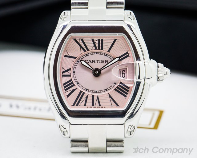 Cartier Roadster Ladies Pink Dial SS / SS