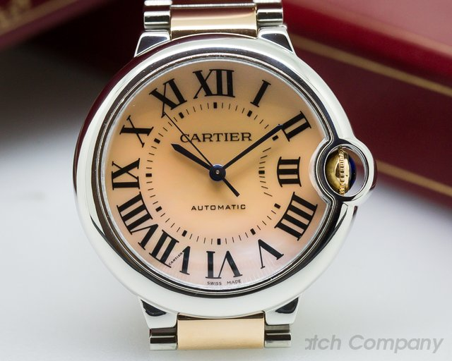 Cartier Ballon Bleu Ladies SS / 18K Rose Gold Automatic