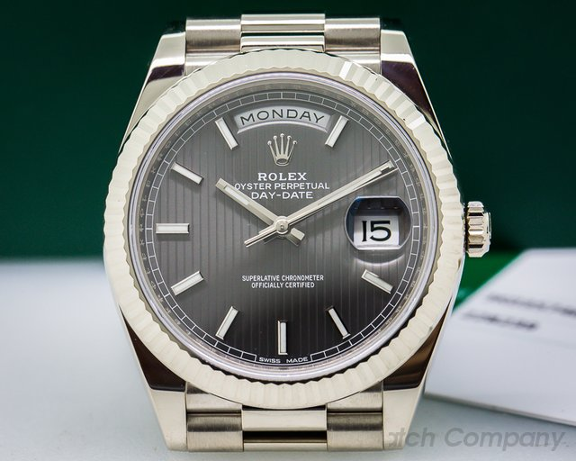 Rolex Day Date President 18K White Gold Rhodium Dial 40MM