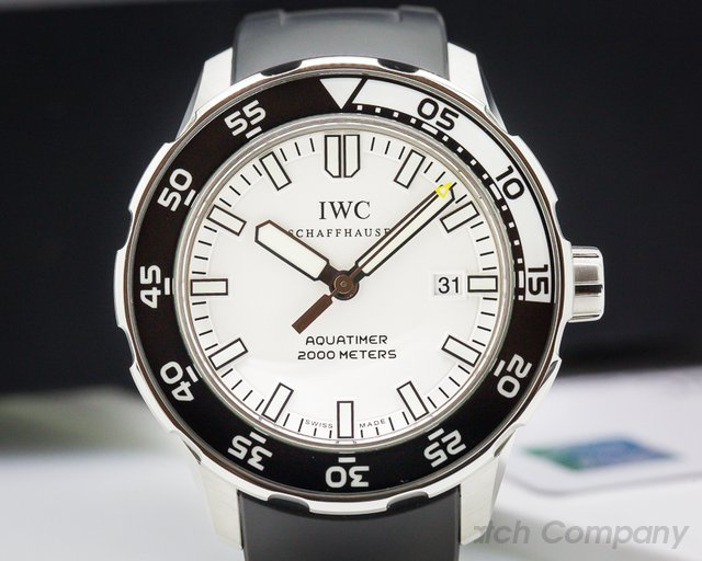 IWC Aquatimer Automatic 2000 White Dial SS/Rubber