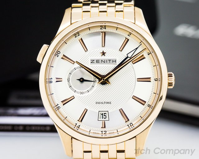Zenith Captain Dual Time 18K Rose Gold / Bracelet