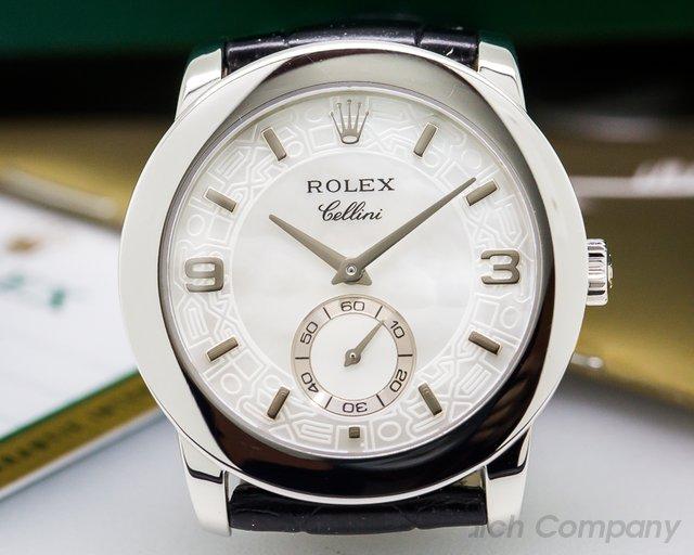 Rolex Cellinium Platinum MOP