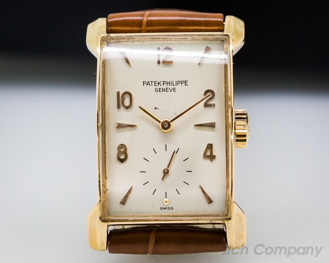 Patek Philippe Vintage Rectangle Bunny Lugs 18K Rose Gold