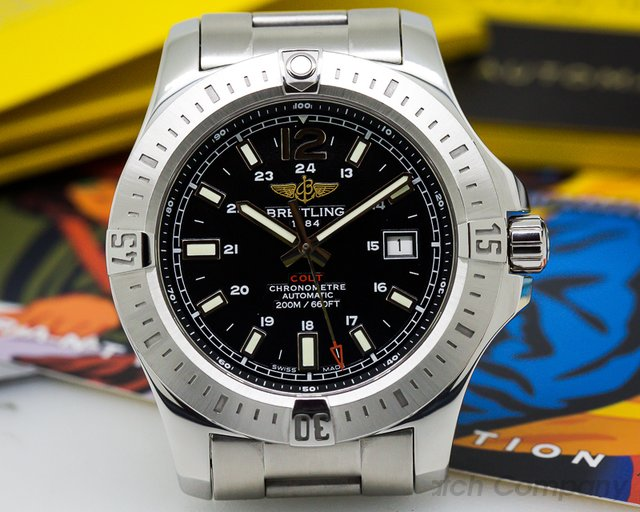 Breitling Colt Black Dial SS / SS Automatic 44mm