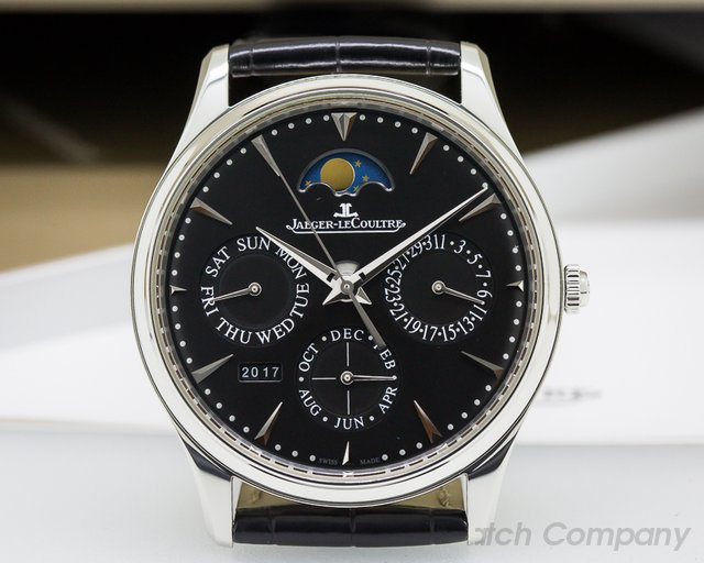 Jaeger LeCoultre Master Ultra Thin Perpetual Calendar SS Black Dial