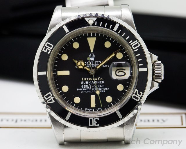 Rolex Submariner 1680 TIFFANY & CO SS / Bracelet