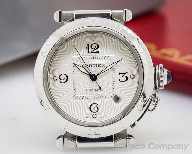 Cartier Pasha Automatic Silver Dial SS / SS 38MM