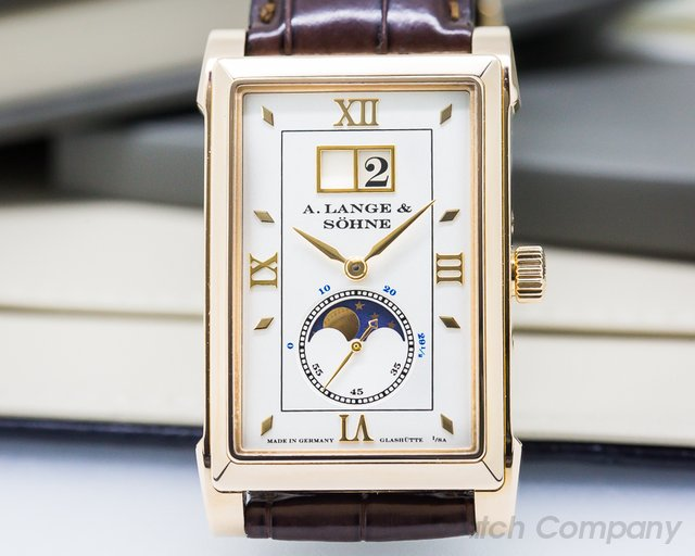 A. Lange and Sohne Cabaret Moonphase 18K Rose Gold