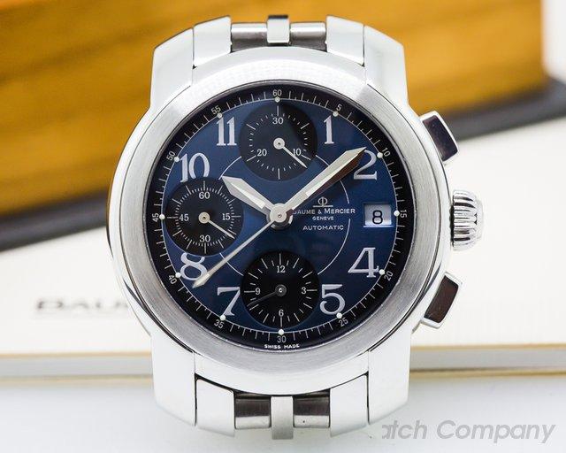 Baume & Mercier Capeland Chronograph AutomaticSS Black / Blue Dial