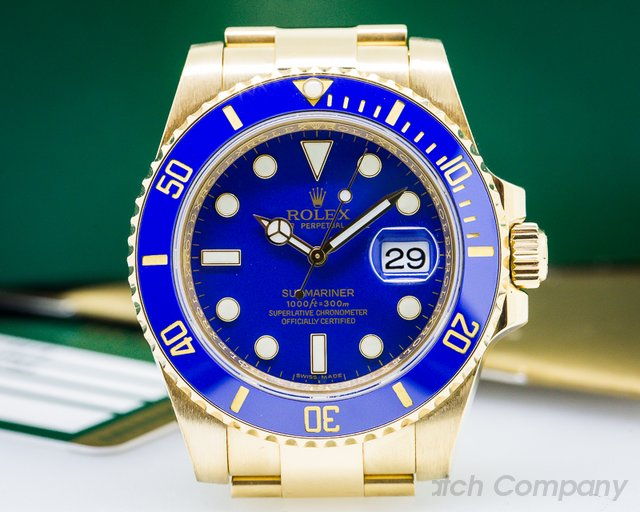 Rolex Rolex Submariner 18K Yellow Gold / Blue Dial