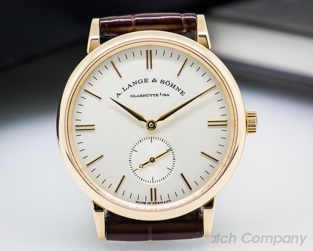 A. Lange and Sohne Saxonia Manual Wind 18K Rose Gold