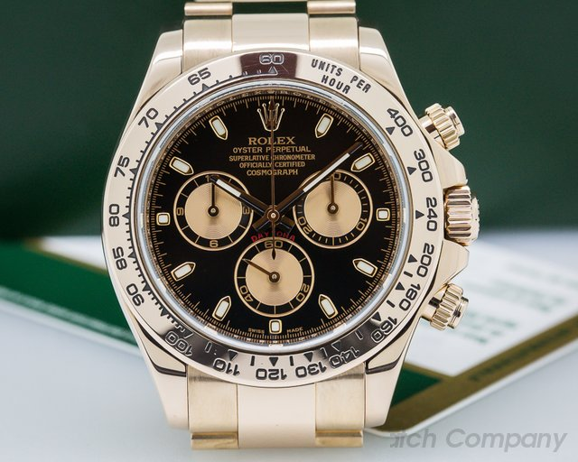 Rolex Daytona Everose Black Dial 18K Rose Gold / Bracelet