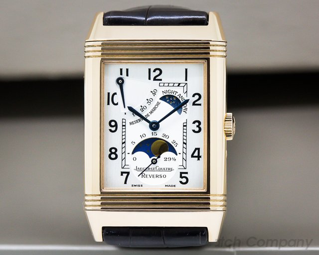 Jaeger LeCoultre Reverso Sun Moon Power Reserve 18K Rose Gold