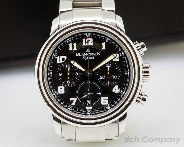 Blancpain Leman Flyback Chronograph Black Dial SS / SS