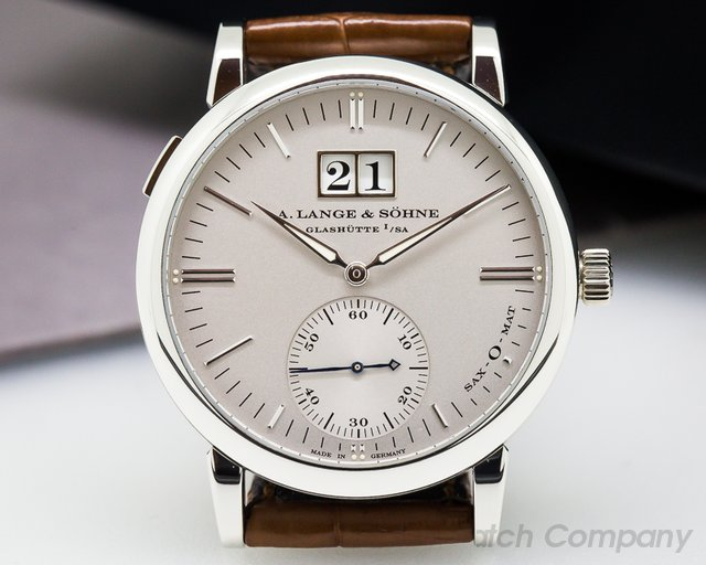 A. Lange and Sohne Langematik Sax-O-Mat Big Date Automatic Platinum