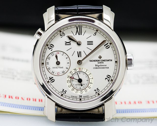 Vacheron Constantin Malte Dual Time Regulator 18K White Gold