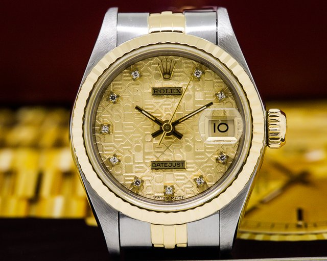 Rolex Lady Datejust Diamond Gold Dial 18K / SS