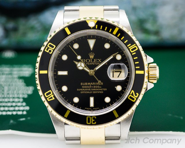 Rolex Submariner Black Dial SS / 18K