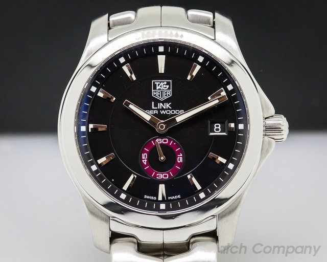 TAG Heuer Link Tiger Woods Automatic Men Black Dial SS / SS