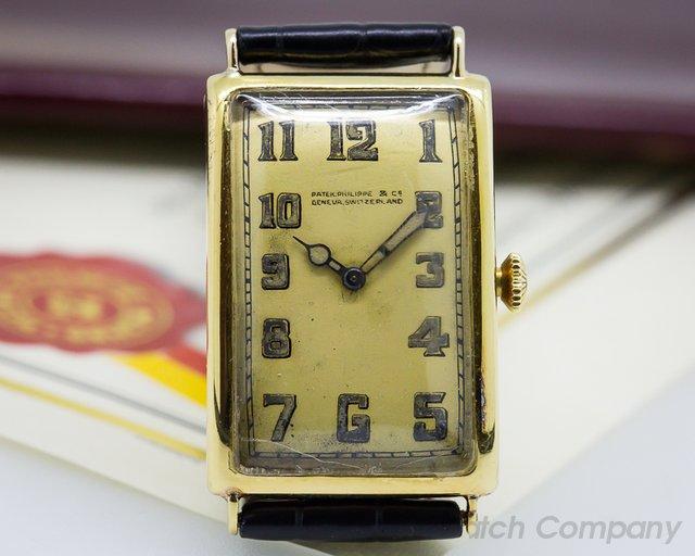 Patek Philippe Vintage Gondolo Tarnished 18K Yellow Circa 1924 RARE
