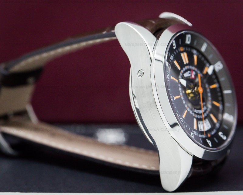Vulcain 210130.197CF Revolution Dual Time SS Black Dial
