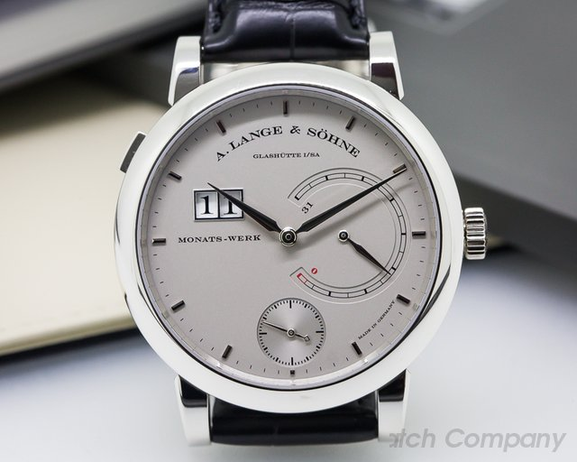 A. Lange and Sohne 31 Day Power Reserve Rhodium Platinum