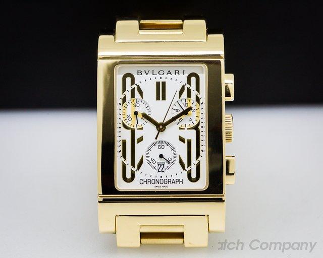 Bvlgari Rettangolo 18K Chronograph Quartz