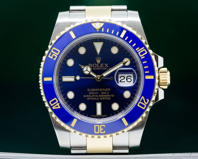 Rolex Submariner Ceramic Blue Dial 18K / SS