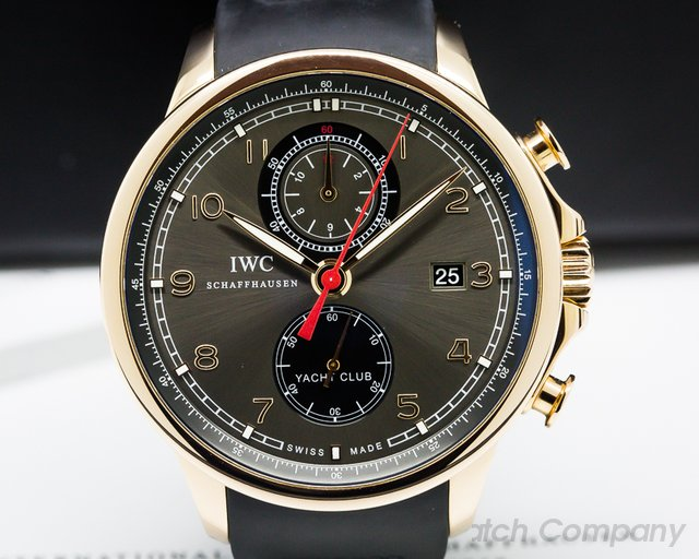 IWC IWC Portuguese Yacht Club Flyback Grey Dial 43.5mm RG / Rubber