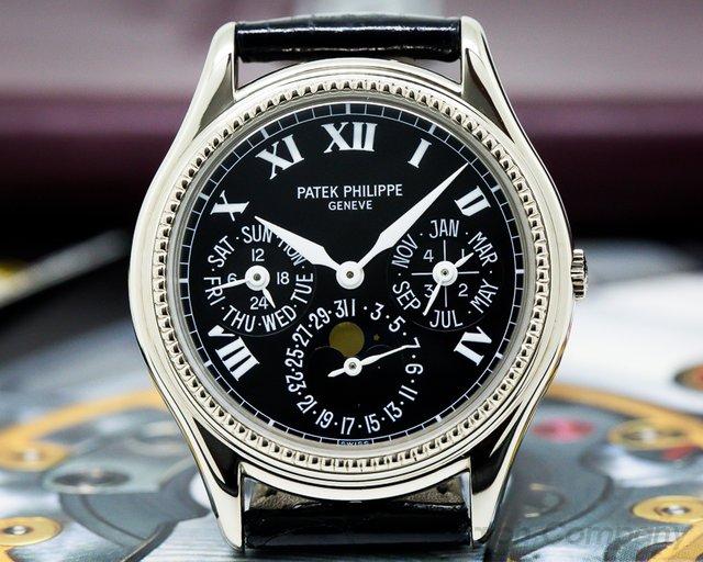 Patek Philippe Perpetual Calendar 18K White Gold / Black Roman Dial Limited