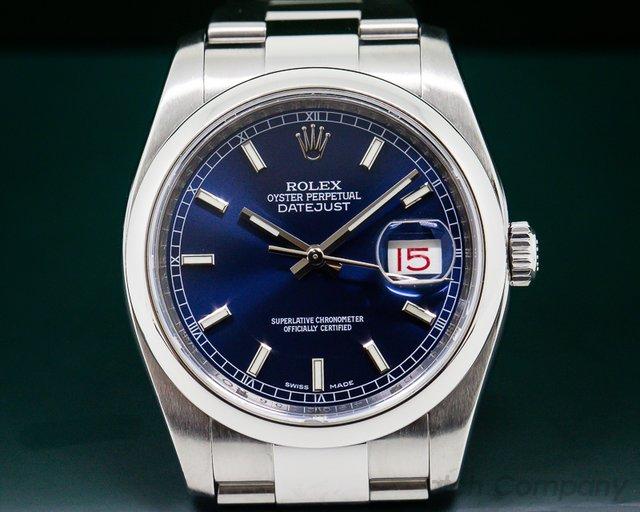 Rolex Datejust Blue Stick Dial / Oyster Bracelet